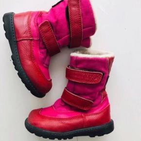 Bundgaard tex 23 vinterstøvler støvler pink rød m foer røde