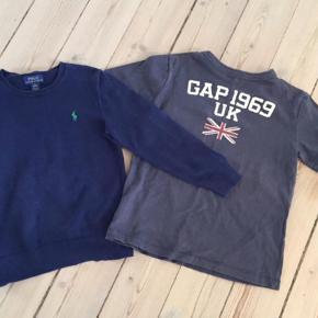 Brand: Ralph lauren, Gap Varetype: Bluse Farve: Blå Kvittering haves.  Strikbluse fra ralph lauren i str 7 - god men brugt T-shirts fra gap str. 6-7 år - næsten ny