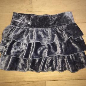 104 skørt nederdel  grå velour