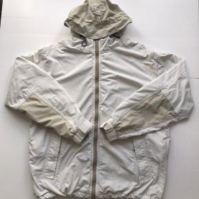 Vintage H2O windbreaker jakke Hvid / beige Str L (Rigtig god stand, fejler intet)