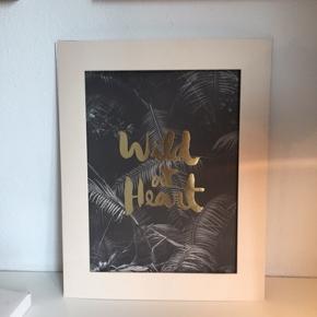 Plakattryk med guld. H:42, b:30 cm
