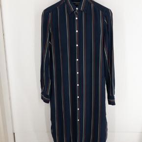 Ralph Lauren lang skjortekjole i silke
