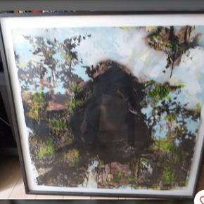 2 cool indrammede malerier af Nathan Peters, måler 100 x 100 cm, 2500 per stk