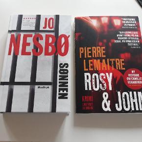 2 krimier, begge i rigtig fin stand. Sønnen af Jo Nesbø og Rosy og John af Pierre Lemaitre.  Pr stk 10kr