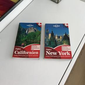 Lonely Planet rejsebøger - Californien og New York. De har været brugt, men er i rigtig god stand.