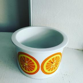 Pomona krukke med appelsin uden låg. Arabia Finland