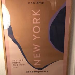 Nynne Rosenvinge New York plakattryk. 70x100 cm. 400 med ramme