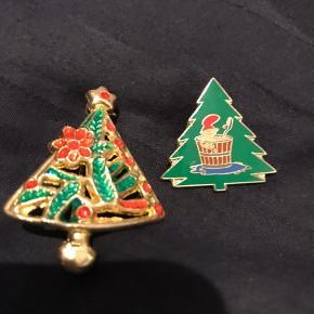 Vintage jule brocher 10 kr for begge