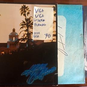 Eagles hotel California vinyl lp plade til grammofon med tekster og plakat