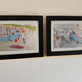 2 billeder i rammer, sælges samlet for 90kr