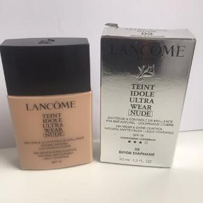 Aldrig brugt   Lancome teint idole ultra wear nude nr 03 beige diaphane  40 ml  Køber betaler fragt
