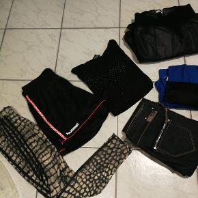 Adidas, Hummel, Diesel, Kaos, Sisters Point, Zara, Benneton mm.  Kæmpe oprydning, se enkelte annoncer på min side..    Sko Kjoler Læderjakke Sportstøj Jeans  ......  Størrelser:  Sko 37 Bukser / nederdel 25&26 - 36 - S - M Bluser / kjoler XS - S - M - L