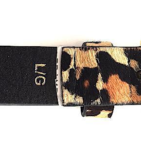 FRAME leopard-print calf hair bælte, str. L, kun prøvet, købt hos Net-a-Porter i juni 2019 for kr. 1.575,00.