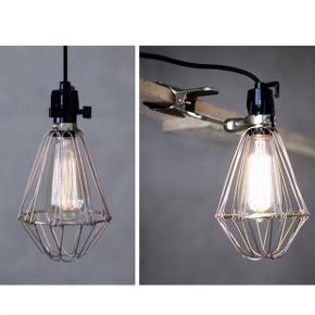 Alternativ HAY clamp lamp, købt i Sverige.  Kan både hænge eller klemmes fast  Glødepære medfølger