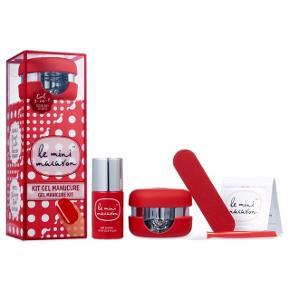Le Mini Macaron Gel Manicure Kit - Cherry Red. Nypris 350,-