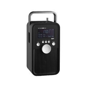 Fed bærbar DAB+ radio fra Scansonic. Stadig i kasse. Nypris 599.