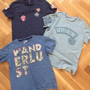 3 t-shirts brugt meget lidt eller slet ikke. Fejler intet. Samlet pris. Alderssvarende.