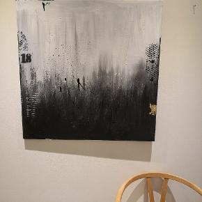 Maleri mål 80x80 plus evt forsendelse. Malet af ut Art By Rohmann. Flere malerier samt udstillinger bag mig. Maler også på bestilling efter ønske om farver og størrelse. 👌