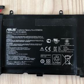 Batteri til Asus bærbar.   Mærke: Asus.  Størrelse: - Stand: God men brugt.  Nypris: - Pris: 80 kr.   Sender gerne med Postnord, Gls og Dao.