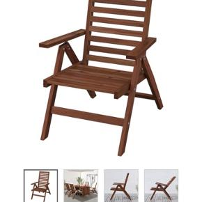 Sælger 1 STK Äpplarö havestol med 1 STK Hållö hynde. Begge dele er i fin stand.  Nypris 600 kr Sælges for 450 kr. (leverer gerne i Århus, men kun ved forudbetaling.