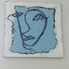 Varetype: Maleri Størrelse: 40 x 40 cm  Prisen angivet er inklusiv forsendelse.  Sjove, skønne malerier,  jeg får oploadet nogle flere i flere farver så følg med på siden