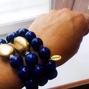 3 armbånd fra Hultquist med antik guldfarvet stor sten.  Brugt en enkel gang