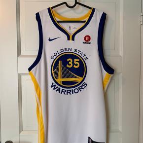 Golden State Warriors shirt Str. XL Købt til en NBA kamp og ellers aldrig brugt.  Bagpå: Durant 35