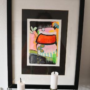 Vundet i kunst forening på job. Malet af kunstner med signatur Eva. Passer desværre ikke ind i mit hjem længere. Måler 33x42 Ca incl ramme.