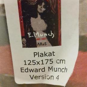 Størrelse: 125x175 Stor plakat af Edward Munchs Madonna. Købt på kunstmuseet Aros og er stadig i original indpakning. Plakaten skal helst afhentes.