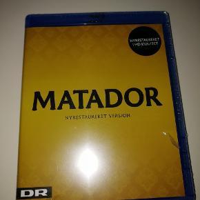 Matador Blu-ray. Aldrig åbnet. Fejlkøb, men fik ikke byttet i den tilladte perioden. Ny pris var 249kr i Elgiganten.