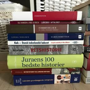 GRATIS Pensumbøger til Jura studiet. Bøgerne er købt undervejs på bacheloren (omkring 2014-2017). Bemærk, der kan være nyere udgaver af disse. Derfor er de gratis, men køber afhenter selv eller betaler forsendelse (Ringsted).
