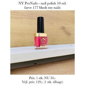 NY ProNails - nail polish 10 ml. farve 177 blush my nails  Pris: 1 stk. NU 50,-  Vejl. pris: 129,- (1 stk. tilbage)   Se også over 200 andre nye produkter, som jeg har til salg herinde :-)