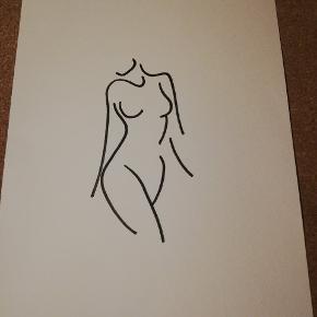 Tegning lavet med inspiration fra nettet. Tegnet på råhvid A4 karton ✍️ Kan sendes for 10 kr