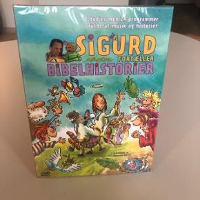 """Dobbelt-DVD """"Sigurd fortæller bibelhistorier"""". Ny og stadig pakket ind.  Afh. 6715 Esbjerc N (Vester Nebel)"""