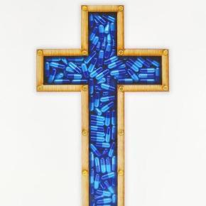 Drug Lord (blue) limited edition print fra Imbue. Signeret og kommer med verifikation på originalitet.