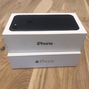 Sort iPhone 7, 32GB.  Batterikapacitet 76% Medfølger sort cover og æske