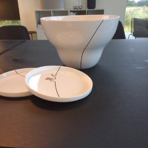 Menu kontur - stor skål og to tallerkner