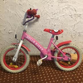 Hello Kitty cykel. 500kr eller Byd. Np 1000kr.