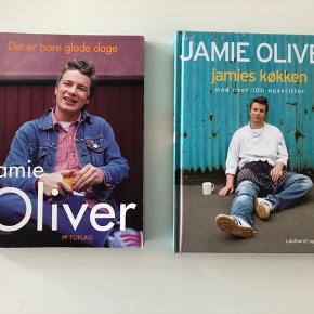 Jamie Oliver - jamies køkken og Jamie Oliver - Det er bare glade dage. 40 kr pr stk.