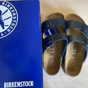 Birkenstock model Arizona str 41 mørkeblå smal model