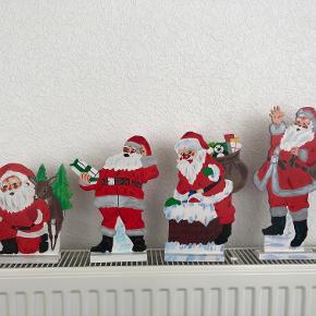 Julemand - nisse Ca. 20-30 cm. høj, udskåret af  træplade, håndmalet på begge sider, står på fod. prisen er pr. stk.