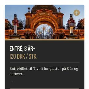 Sælger 4 Tivoli entre billetter til resten af 2018 Np 120 kr stk