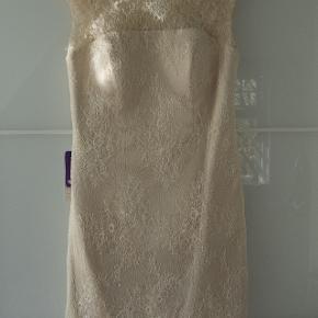 JJ HOUSE COCKTAILDRESS champangefarvet tyl Vintage Str. 38/40 - L: 98