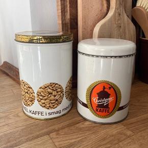 Flotte gamle retrodåser til f.eks kaffe, te eller fyrfadslys. Pris for begge.    #secondchancesummer