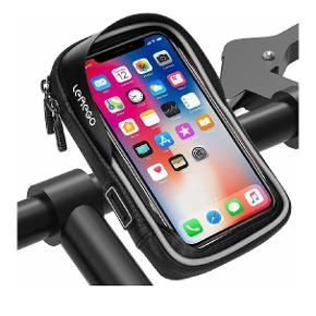 Waterproof Bicycle Mobile Phone Holder Handlebar Bag Frame Bag Holder Outdoor Bicycle Mount Motorcycle Bike Handlebar Bag 360° Rotatable for 6 Inch Mobile Phones GPS Sat Nav Other Devices