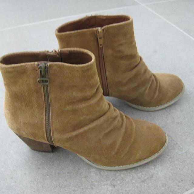 Støvler, str. 36,5, Bianco, Sort, Ruskind