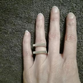 Varetype: Ring Georg Jensen ARIA Størrelse: 48 Farve: Sølv Oprindelig købspris: 1700 kr.  Smuk dobbelt sølvring fra Georg Jensen. Model ARIA Str. 48 Nypris 1700