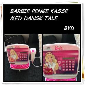 Barbie penge kasse med dansk tale byd
