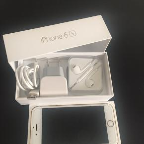 Iphone 6s 64gb med lader kabel cover høretelefoner kasse