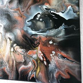 Originalt maleri med sort, babylyserød, kobber, guld og sølv. Maleriet er 60x80cm.